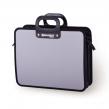 Портфель пластиковый BRAUBERG премьер, А4, 390×315×120 мм, 3 отделения, на молнии, серый