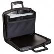 Папка-портфель пластиковая BRAUBERG А4+ (355×290×60 мм), выдвижные ручки, 9 отделений, 1 карман, черная (225168)