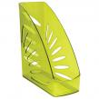 Лоток вертикальный для бумаг СТАММ, Тропик, ширина 110 мм, тонированный зеленый лайм