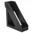 Лоток вертикальный для бумаг BRAUBERG Basic, 265×100×285 мм, черный (237009)
