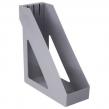 Лоток вертикальный для бумаг BRAUBERG Basic, 265×100×285 мм, серый (237010)