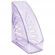 Лоток вертикальный для бумаг, увеличенная ширина (245×263 мм), СТАММ, Тропик, тонированный фиолетовый, ЛТ362 (237039)