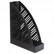 Лоток вертикальный для бумаг BRAUBERG Standard+, 250×90×300 мм, черный (237224)