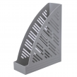 Лоток вертикальный для бумаг BRAUBERG Standard+, 250×90×300 мм, серый (237225)