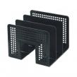 Лоток-сортер для бумаг BRAUBERG Radikal, 3 отделения, 207×212×165 мм, сетчатый, черный (235364)