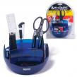 Канцелярский набор BRAUBERG, 9 предметов, сферическая форма, вращающаяся конструкция 360°, тонированный синий,блистер