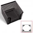Подставка для бумажного блока BRAUBERG «Germanium», металлическая, 78*105*105 мм, черная