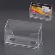 Подставка для визиток настольная BRAUBERG-CONTRACT, на 50 визиток, 100*40*65мм, прозрачная