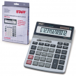 Калькулятор STAFF настольный металлический STF-1712, 12 разрядов, двойное питание, 200×152 мм