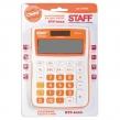 Калькулятор STAFF настольный STF-6222, 12 разрядов, двойное питание, 148×105 мм,Оранжевый