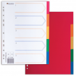 Разделитель пластиковый BRAUBERG для папок А4, по цветам 5цв., с оглавлением, Цветной, Китай