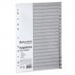Разделитель пластиковый BRAUBERG, А4, 20 листов, алфавитный А-Я, оглавление, серый, Россия (225601)