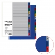 Разделитель пластиковый BRAUBERG, А4, 12 листов, Январь-Декабрь, оглавление, цветной (225613)