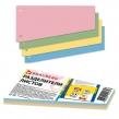 Разделители листов,BRAUBERG, картонные, комплект (4 цв. х 25 шт.), «Трапеция», 230×120×60 мм (225972)