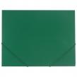 Папка на резинках BRAUBERG Contract, зеленая, до 300 листов, 0,5 мм, бизнес-класс (221799)