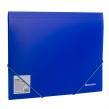 Папка на резинках BRAUBERG NEON, синяя, до 300 листов, 0,5 мм (227463)