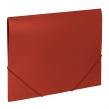 Папка на резинках BRAUBERG Office, красная, до 300 листов, 500 мкм (227711)