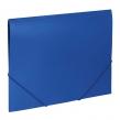 Папка на резинках BRAUBERG Office, синяя, до 300 листов, 500 мкм (227712)