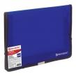 Папка на резинках BRAUBERG, широкая, А4, 330×240 мм, синяя, до 500 листов, 0,6 мм (227978)