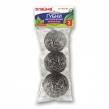 Губки для посуды металлические Лайма, Комплект 3 шт., спиральные по 20 г (603102)