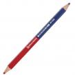 Карандаш двухцветный, красно-синий, утолщённый, BRAUBERG, заточенный, грифель 4,0 мм, (181262)