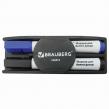 Набор для магнитно-маркерной доски BRAUBERG (магнитный стиратель, 2 маркера 5 мм: черный, синий) (236853)