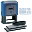 Штамп самонаборный 7-строчный, размер оттиска 60×33 мм, синий без рамки, TRODAT 4928/DB, кассы в комплекте (230724)