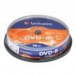Диски DVD-R (минус) VERBATIM 4,7 Gb 16x, КОМПЛЕКТ 10 шт., Cake Box (510127)