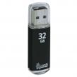 Флэш-диск 32 GB, SMARTBUY V-Cut, USB 2.0, металлический корпус, черный (512186)