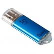 Флэш-диск 16 GB, SMARTBUY V-Cut, USB 2.0, металлический корпус, синий (512195)