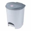 Ведро-контейнер 11 л, IDEA, с крышкой и педалью, для мусора, 33×20×27 см, серое (601031)