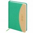 Ежедневник датированный 2021 А5 (138×213 мм) BRAUBERG SimplyNew, кожзам, зеленый/кремовый (111408)