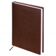 Ежедневник недатированный А5, (138×213 мм), BRAUBERG Profile, балакрон, 136 л., коричневый (123428)