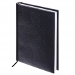 Ежедневник недатированный А5 (138х213 мм) BRAUBERG Select, балакрон, 160 л., черный (123429)