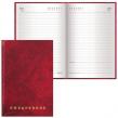 Ежедневник BRAUBERG недатированный, А5, 145×215 мм, 160 л., обложка бумвинил, бордо