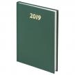 Ежедневник датированный 2019, BRAUBERG, А5, твердый переплет, бумвинил, зеленый, 145×215 мм (129265)