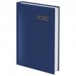 Ежедневник датированный 2020 А6, BRAUBERG, Select, кожа классик, темно-синий, 100×150 мм (126756)
