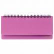 Планинг настольный недатированный (305×140 мм) BRAUBERG Select, балакрон, розовый (111697)