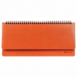 Планинг настольный недатированный (305×140 мм) BRAUBERG Rainbow, кожзам, оранжевый (111701)