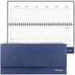 Планинг настольный недатированный (305×140 мм) BRAUBERG Select, балакрон, 60 л., темно-синий (123798)