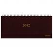 Планинг настольный датированный 2020, BRAUBERG, Select, кожа классик, коричневый, 305×140 мм (129767)