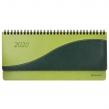 Планинг настольный датированный 2020, BRAUBERG, Bond, кожзам, зеленый с салатовым, 305×140 мм (129773)
