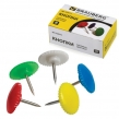 Силовые кнопки BRAUBERG, цветные, круглые, 12 мм, 50 шт., в картонной коробке