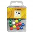 Кнопки inФОРМАТ, 30шт/уп, комбинированные, с круглой головкой, ассорти (059033)