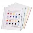 Папки-файлы перфорированные, A4, ERICH KRAUSE, комплект 100 шт., гладкие, с цветной полоской, 30 мкм (224638)