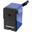 Точилка механическая BRAUBERG UNIVERSAL, металлический механизм, чёрный/синий (222515)