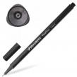 Ручка капиллярная (линер) BRAUBERG Aero, черная, трехгранная, металлический наконечник, линия письма 0,4 мм (142252)