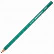 Карандаш чернографитный STAFF, 1 шт., НВ, пластиковый, зеленый корпус, без резинки, заточенный (180962)