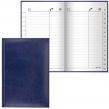 Телефонная книжка А5 (136×202 мм), BRAUBERG, Imperial, под гладкую кожу, 96 л., вырубной алфавит, темно-синяя (125040)