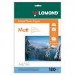 Фотобумага LOMOND для струйной печати, А4, 180 г/м2, 50 л., односторонняя, матовая